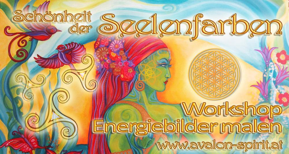 Schönheit der Seelenfarben – Workshop Energiebilder malen