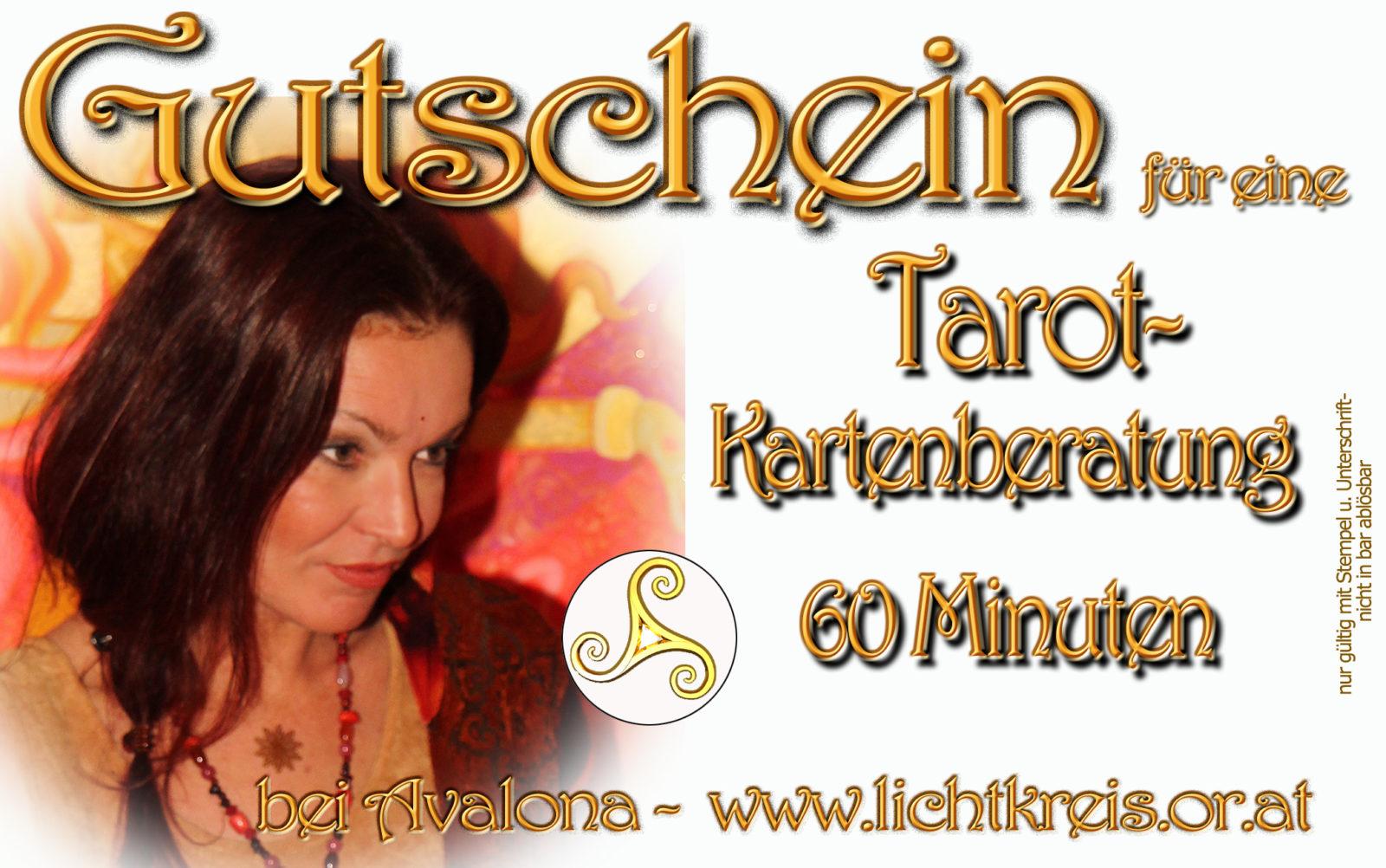 Geschenk-Gutschein für Tarot-Kartenberatung